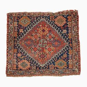 Antique Persian Gashkai Handmade Bagface Rug, 1870s