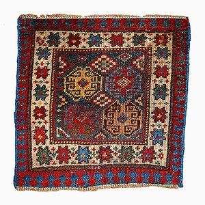 Antique Russian Kazak Handmade Bagface Rug, 1880s