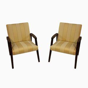 Mid-Century Beech Armchairs, 1960s, Set of 2