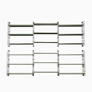 Libreria modulare vintage verde di Dekker per Tomado