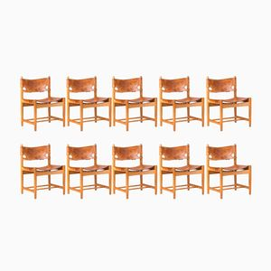 3251 Dining Chairs by Børge Mogensen for Fredericia, 1950s, Set of 10