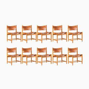 3251 Esszimmerstühle von Børge Mogensen für Fredericia, 1950er, 10er Set