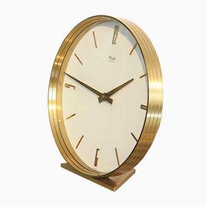 Mid-Century Brass Table Clock from Kienzle