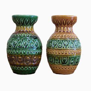Vintage Keramikvasen von Bay, 2er Set