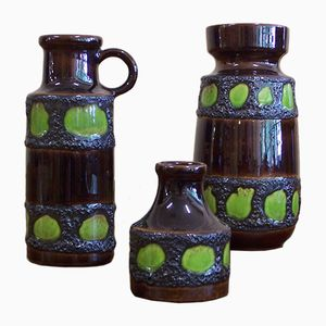 Vintage Ceramic Vases from Scheurich, Set of 3