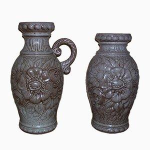 Vase en Céramique de Scheurich, Set de 2