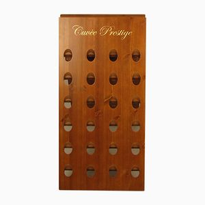 Industrial Wooden Wine Rack, 1970s