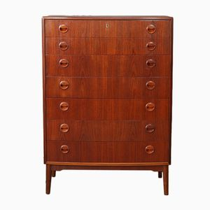 Tall Teak Chest of Drawers, 1960s