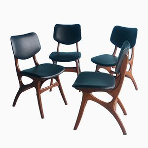 Teak Dining Chairs from Pynock, 1950s, Set of 4