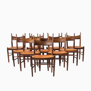 Dining Chairs from H. Vestervig Eriksen, 1950s, Set of 10