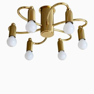 Vintage Ceiling Lamp with Six Arms, 1970s