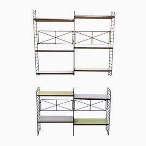 Minimalist Italian Modular Bookshelves, 1950s, Set of 2