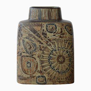 Braune Mid-Century Baca Vase von Nils Thorsson für Royal Copenhagen