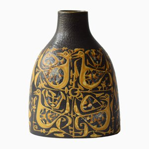 Danish Vase with Bird Motif by Nils Thorsson for Royal Copenhagen, 1970s
