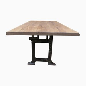 Dining Table with Cast Iron Legs