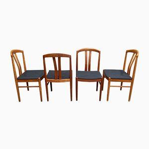 Scandinavian Mid-Century Teak Dining Chairs, Set of 4