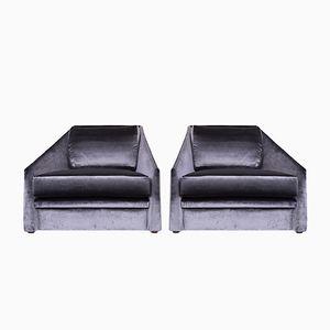 Samt Sessel von Adrian Pearsall für Comfort Designs, 1980er, 2er Set
