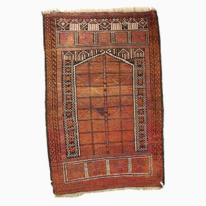 Antique Afghan Baluch Handmade Prayer Rug, 1900s