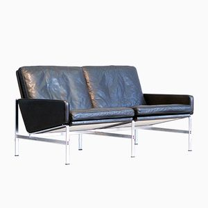Model 6720 Black Leather Sofa by Fabricius & Kastholm for Kill International, 1960s