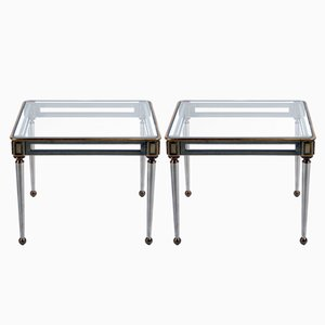 Mid-Century Italian Steel and Brass Side Table by Banci, Set of 2