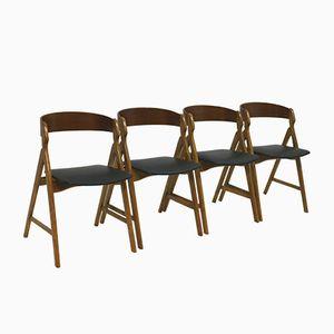 Vintage Esszimmerstühle von Henning Kjaernulf, 4er Set