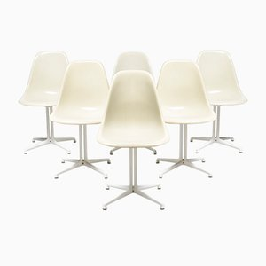 Vintage DSW Beistellstühle mit La Fonda Stuhlbeinen von Charles & Ray Eames für Vitra, 6er Set