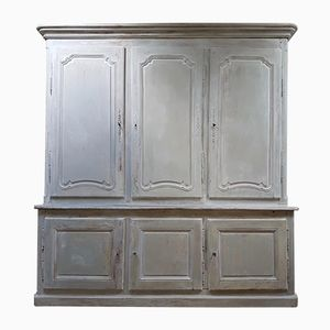 18th Century French Painted Cupboard