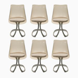 Dining Chairs by Michel Charron, 1970s, Set of 6