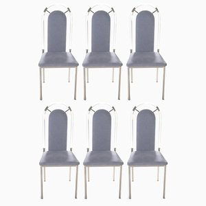 Plexiglass Dining Chairs from Maison Jansen, 1970s, Set of 8