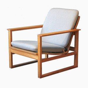 Modell 2256 Eiche Sessel von Børge Mogensen für Fredericia, 1950er