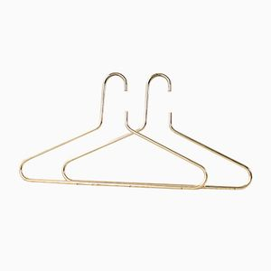 Golden Clothes Hangers, 1960s, Set of 2