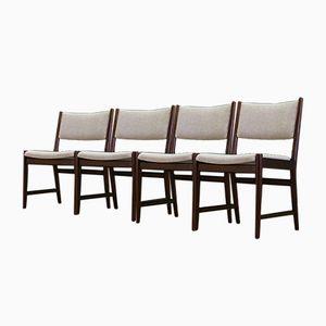 Skandinavische Mid-Century Mahagoni Stühle, 4er Set