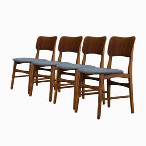 Vintage Danish Teak Chairs, Set of 4