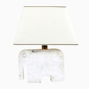 Travertine Elephant Lamp by Fili Mannelli