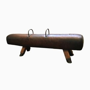 Leather Pommel Horse Bench, 1920s