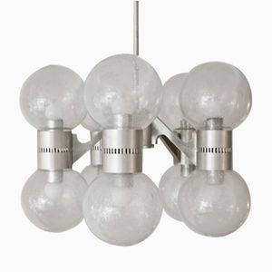 Pulegoso Glass Chandelier, 1960s