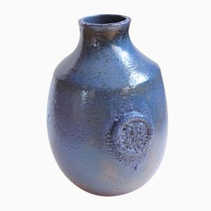 Blue Mid-Century Ceramic Vase from Kildahl