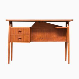 Vintage Danish Writing Desk by Gunnar Nielsen Tibergaard