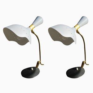 Mid-Century Tischlampen von Arredoluce, 1950er, 2er Set