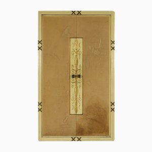 Vintage Schrank aus Holz & Messing von Osvaldo Borsani