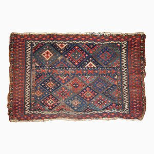 Antique Kurdish Handmade Bagface Rug, 1880s
