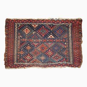 Antique Kurdish Handmade Bagface Rug, 1880s