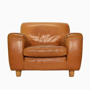 Fatboy Natural Cognac Leather Easy Chair from Molinari, 1980s