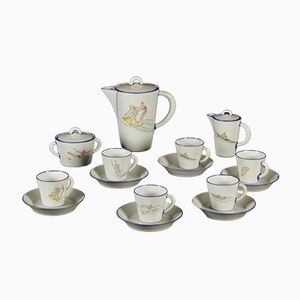 Vintage Coffee Service in Porcelain by Gio Ponti for Richard Ginori