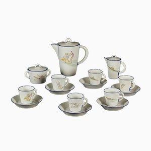 Vintage Porzellan Kaffeeservice von Gio Ponti für Richard Ginori