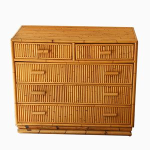 Bamboo Chest of Drawers, 1950s