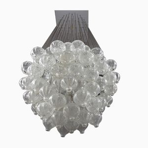 Large Austrian Tulipan Crystal Glass Chandelier from Kalmar, 1960