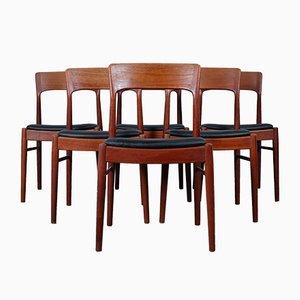Mid-Century Rosewood Dining Chairs by Kai Kristiansen for Korup Stolefabrik, Set of 6