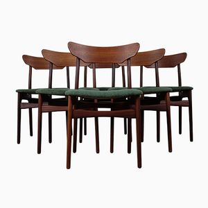 Teak Esszimmerstühle von Schøning & Elgaard, 1960er, 6er Set