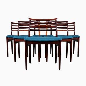 Mid-Century Esszimmerstühle von Erling Torvits für Sorø Stolefabrik, 6er Set